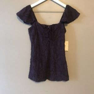 NWT Free People Off the Shoulder Top Size Medium